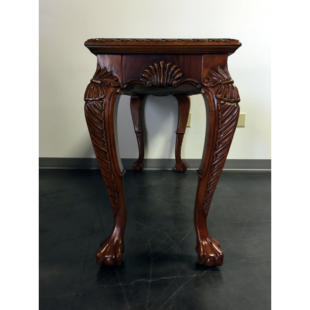Chippendale Mahogany Inlaid Console Sofa Table - Image 7 of 11