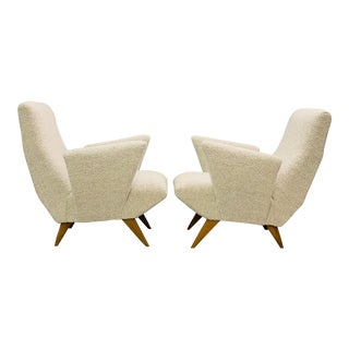 Nino Zoncada Armchairs - a Pair For Sale