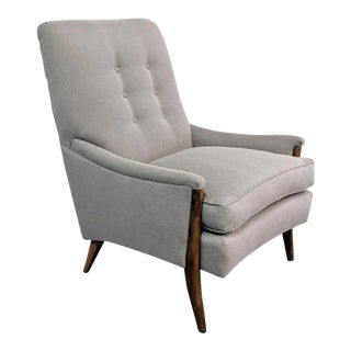 Mid-Century Modern Restored Kroehler Gray Walnut Lounge Chair For Sale