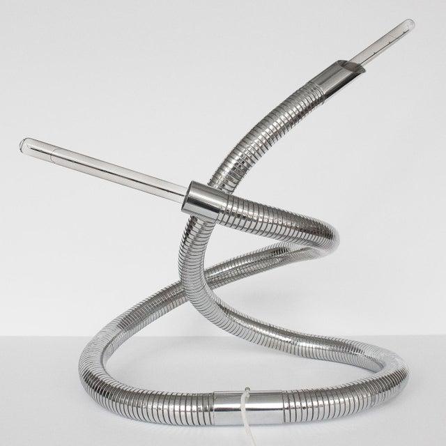 Italian Unique 1960s Italian Chrome Flexible Snake Lamp For Sale - Image 3 of 13