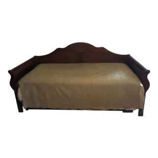 Middle Eastern Rosewood Daybed With Extra Pull Out Mattress