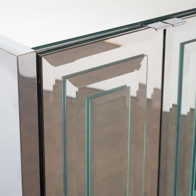 Mid-Century Modern Mirrored and Chrome Sideboard by Ello For Sale In New York - Image 6 of 10