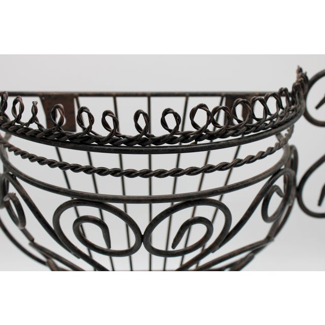 Black French Garden Wall Jardiniere For Sale - Image 8 of 12