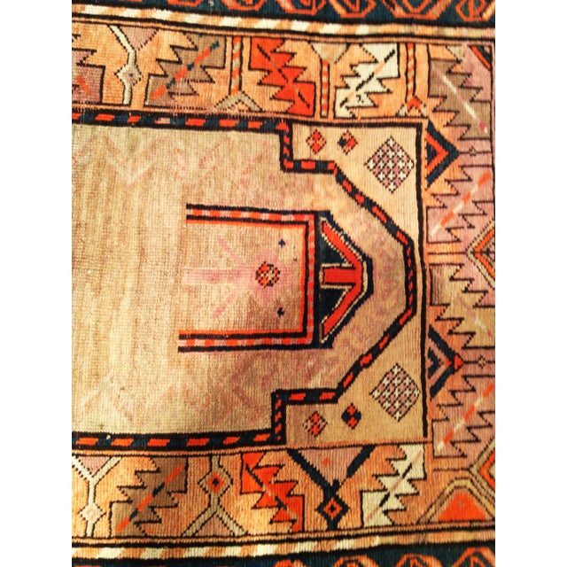 1920s Early 20th Century Kurdish Camelhair Prayer Rug - 3′6″ × 5′4″ For Sale - Image 5 of 8