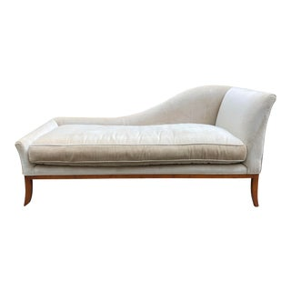 Sophisticated Lee Jofa Champagne Chaise Lounge For Sale