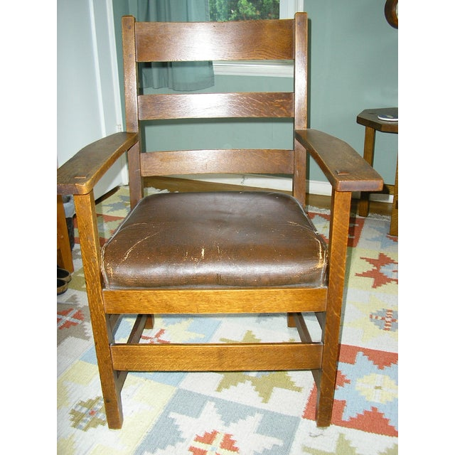 Early 20th-C. Stickley Dining Armchair - Image 2 of 5