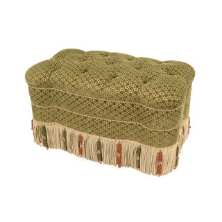 French Victorian Style '20th Century' Rectangular Shaped Ottoman 'Bench' For Sale