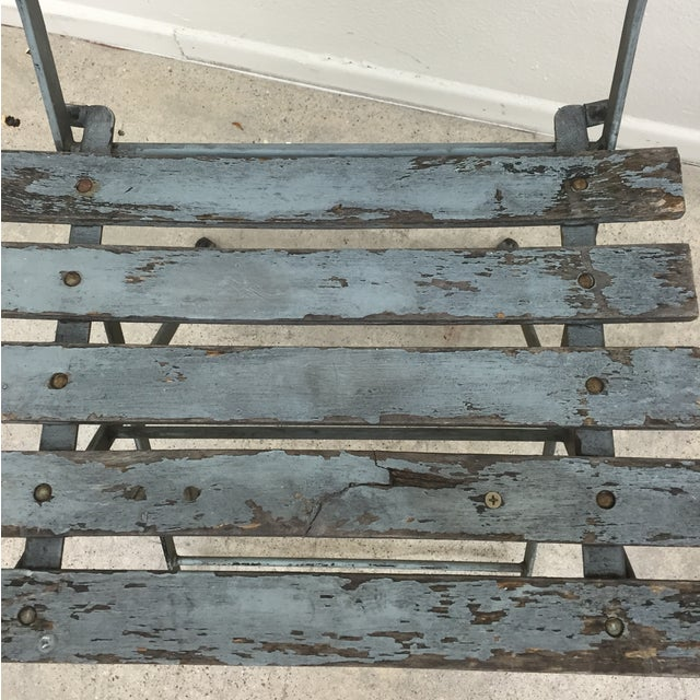Painted French Garden Chairs - Pair For Sale - Image 5 of 8
