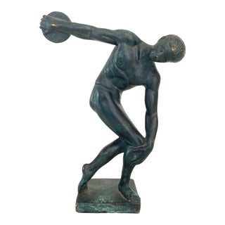 1930s Grand Tour Bronze Statue of Discobolus of Myron For Sale