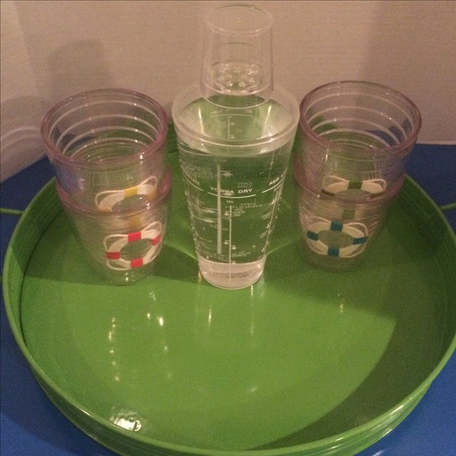 Vintage Tervis Tumbler Set With Shaker & Tray - Image 8 of 9
