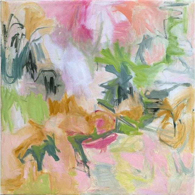 """White """"Desert Rose"""" by Trixie Pitts Abstract Oil Painting For Sale - Image 8 of 8"""