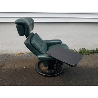 1970s Vintage Ekornes Stressless Chair With Ottoman & Stressless Tray Preview