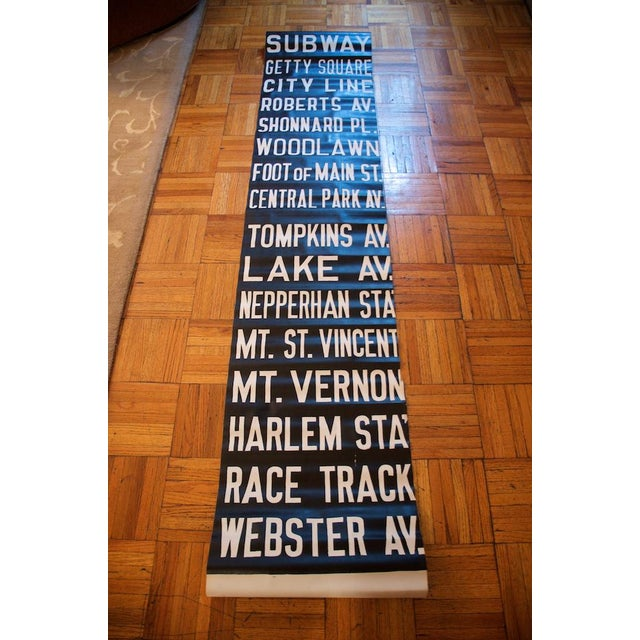 Paper Pre-War New York Trolley Scroll For Sale - Image 7 of 7