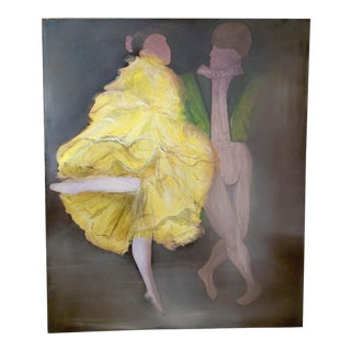 Large Oil on Canvas Painting - Dancers For Sale