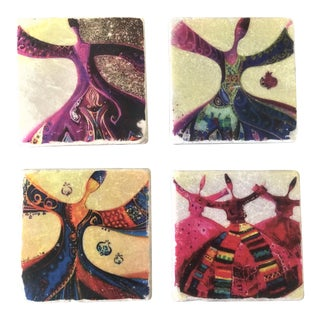 Whirling Derwih Coaster -Set of 4 For Sale