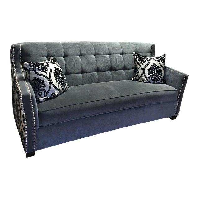 Fleur-De-Lis Studded Sofa - Image 1 of 9