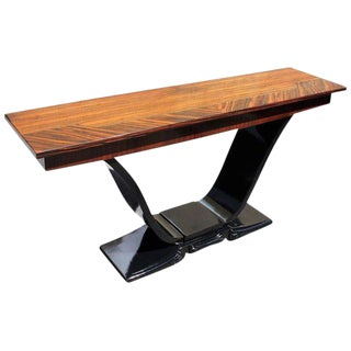 1940s Art Deco Macassar Ebony Console Table For Sale