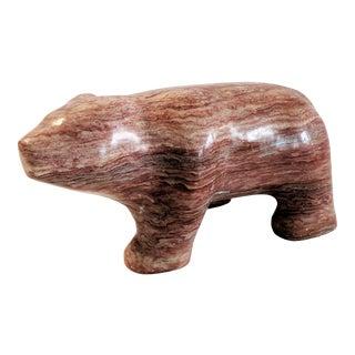 1980s Fred Begay Alabaster Bear Sculpture For Sale