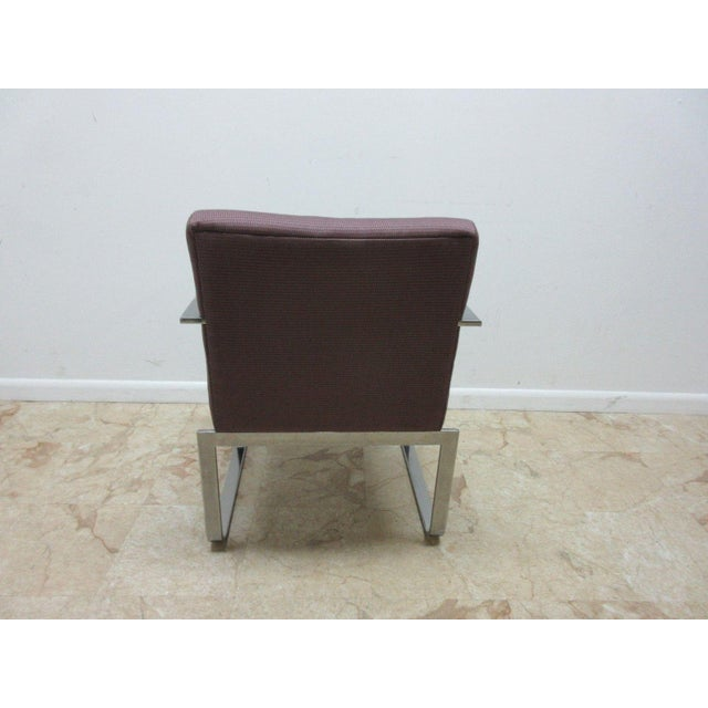 Vintage Chrome Flat Stock Club Chair For Sale - Image 5 of 9