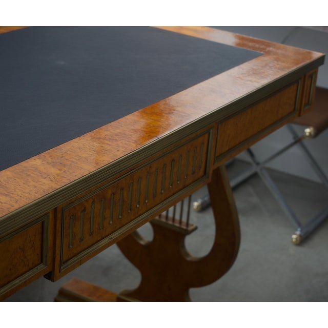 Late 19 Century Russian Czarist Regency Library Table For Sale In West Palm - Image 6 of 12