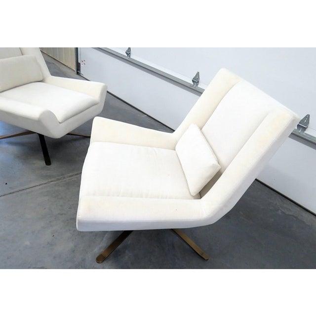 Pair of Restoration Hardware Luke Swivel Chairs For Sale In Philadelphia - Image 6 of 10