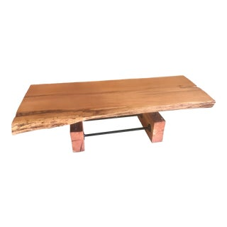 Live-Edge Floating Coffee Table For Sale