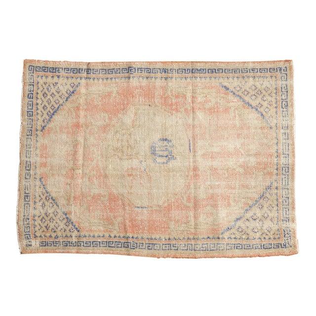 "Vintage Distressed Oushak Square Rug - 2'10"" X 4' For Sale - Image 9 of 9"