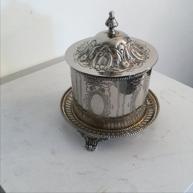 Silver Plate Biscuit Box - Image 3 of 6