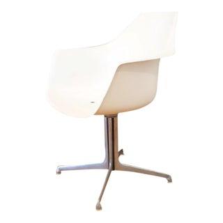 Burke Tulip Mid-Century Modern Swivel Armchair For Sale