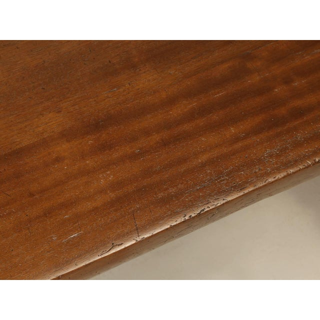French Trestle Table in Solid Mahogany For Sale - Image 4 of 11