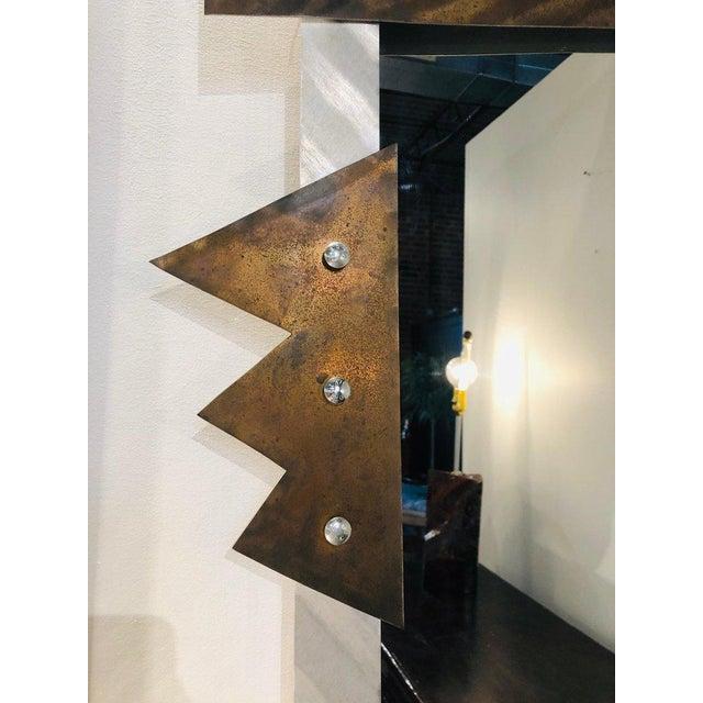 Modern Metal Wall Mirror For Sale In Greensboro - Image 6 of 8
