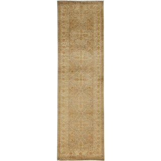 """Oushak, Hand Knotted Runner - 3'2"""" X 10'6"""" For Sale"""