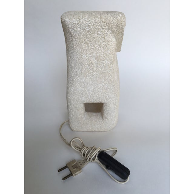 1970s Vintage Albert Tormos Sculptural Stone Table Lamp For Sale - Image 5 of 8