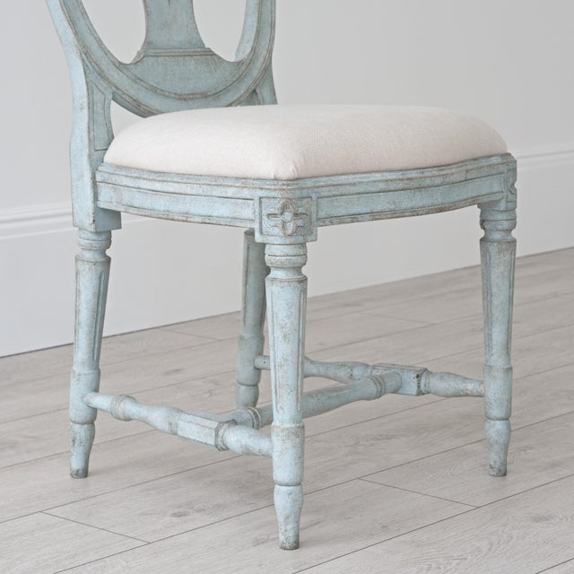 Birch Rosa Gustavian Dining Chair For Sale - Image 7 of 11