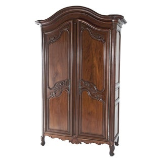 Mid 18th Century Fruitwood Chateau Armoire For Sale