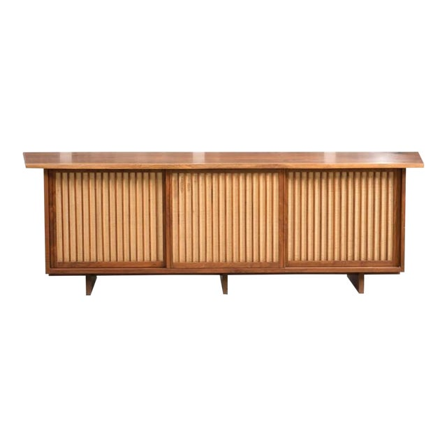 George Nakashima Triple Sliding Door Cabinet, 1968 For Sale