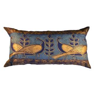 Lapwing Birds Sateen Linen Pillow For Sale
