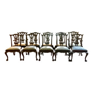 Maitland Smith Mahogany Dining Room Chairs - Set of 10 For Sale