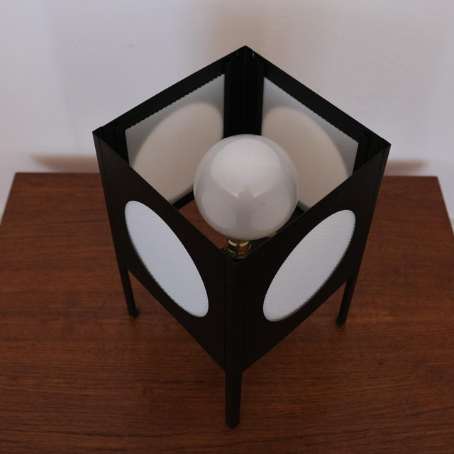 1960s Metal Cube Lamp, 1960s For Sale - Image 5 of 8