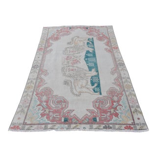 "Lion Designed Ushak Carpet - 6'9"" X 4'2"""