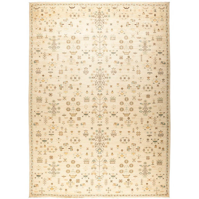 """Amara, Eclectic Area Rug - 10' 1"""" X 13' 9"""" For Sale - Image 4 of 4"""