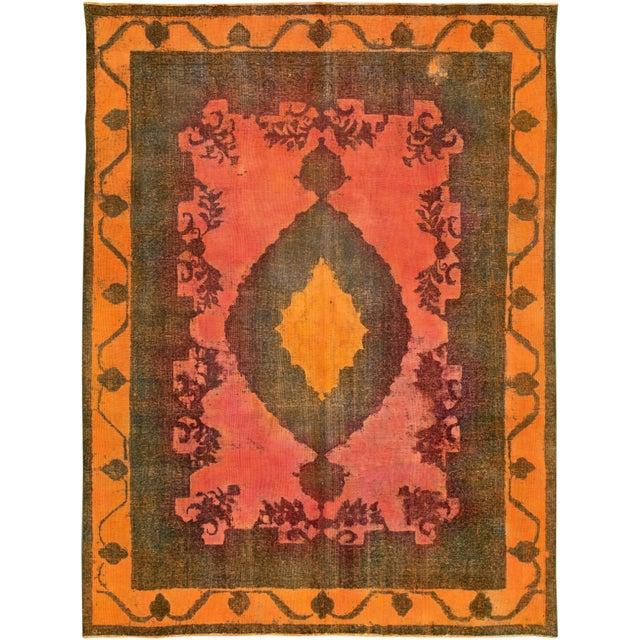"Textile Apadana - Vintage Overdyed Rug, 9'4"" X 12'6"" For Sale - Image 7 of 7"