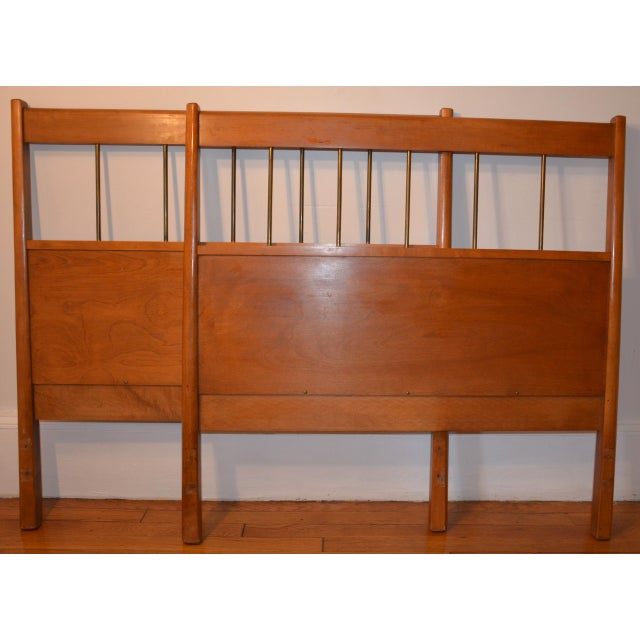 Lovely pair of twin size walnut headboards by designer Paul McCobb as part of his Planner Group line manufactured by...
