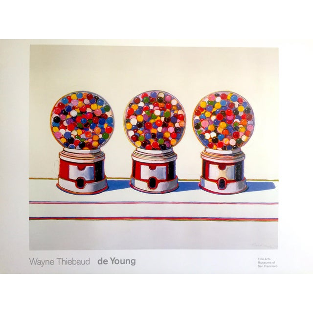 "Various Artists Wayne Thiebaud Lithograph Print Pop Art Museum Poster "" Three Machines "" 1963 For Sale - Image 4 of 12"