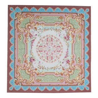 """Pasargad Aubusson Hand Woven Wool Rug - 6' 9"""" X 7' 0"""""""