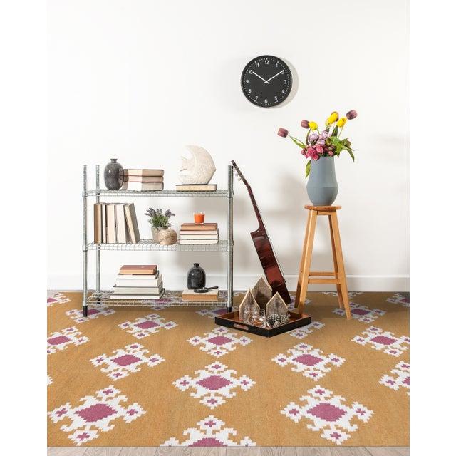 Contemporary Zara Southwestern Orange Flat-Weave Rug 3'x5' For Sale - Image 3 of 4