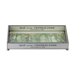 Central Park Map Glass Tray