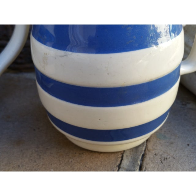 50's Cornish Stripe Pottery Tea Set - Image 4 of 5
