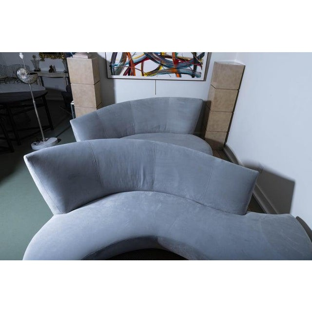 Late 20th Century Vladimir Kagan Bilbao Serpentine Sofas- a Pair For Sale - Image 10 of 11