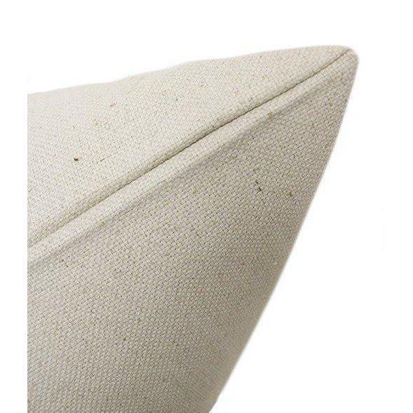"2010s 22"" Alabaster Velvet Panel & Linen Pillows - a Pair For Sale - Image 5 of 6"